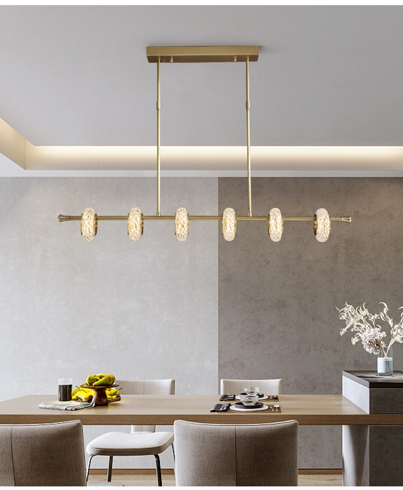 Modern Luxury LED Chandelier Nordic creative long glass ceiling light Dining Room living room minimalist Home bedroom люстра
