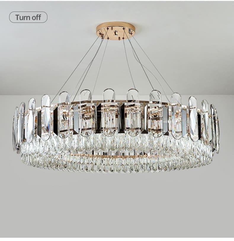HONGDENG Modern Crystal Chandelier Lighting Round LED Living room Indoor Lighting Gold Chandeliers for Hoem Decoration Lustre