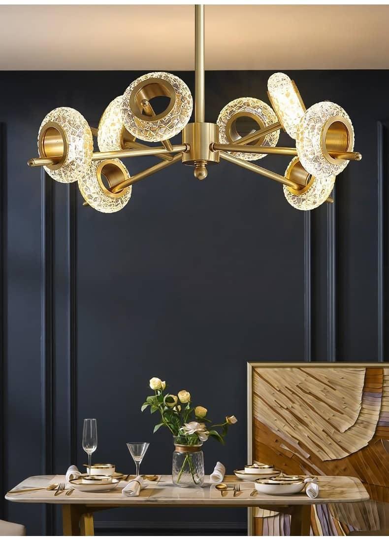 Modern Luxury LED Chandelier nordic glass creative circular Ceiling lamp for luxury living room minimalist bedroom люстра