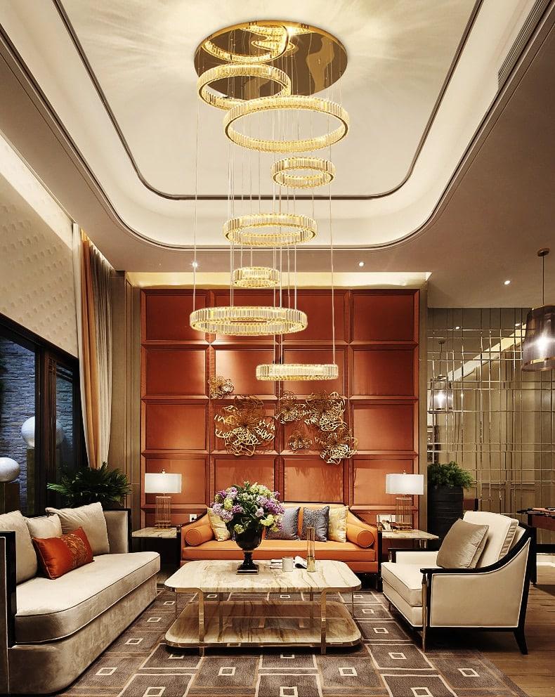 Modern led chandeliers lighting luxury Crystal Chandelier ining room bedroom circular staircase light villa hall hotel Lustre