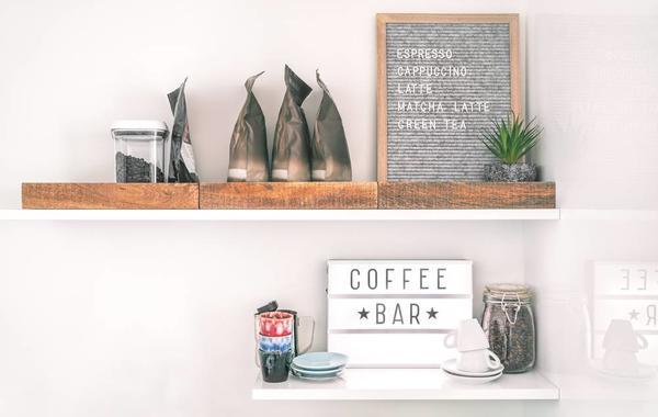 أفكار مميزة لتصميم ركن قهوة منزلي