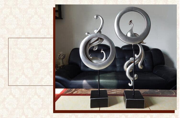 European Retro Resin Phoenix Sculpture Art Ornaments Home Livingroom Table Furnishing Decoration Office Hotel Figurines Crafts