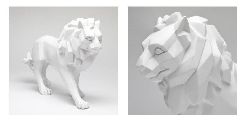 Nordic Lion Resin Statue Sculpture Home Decoration Room Accessories Living Room Study Desk Ornaments Figurines for Interior