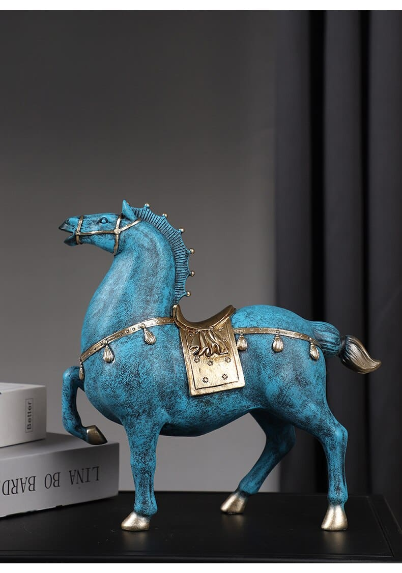 Home Decor Room Decoration Accessories Resin Horse Statue Living Room Bedroom Office Desk Ornaments Lucky Gift Crafts Retro