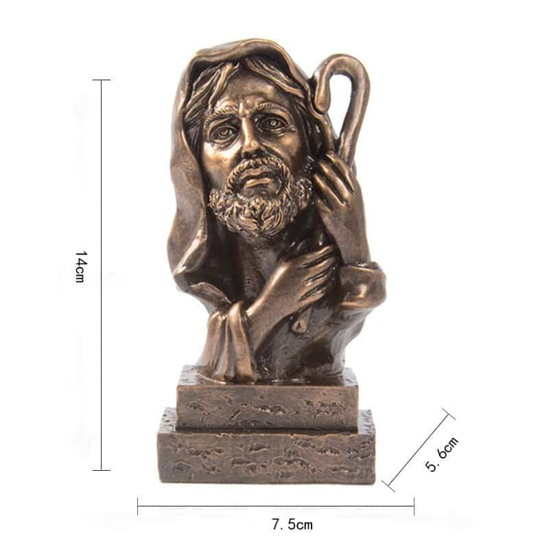 Resin God Ornaments Home Modern Statue for Decoration Accessories Living Room Decor Creative Gifts Retro Religious Characters