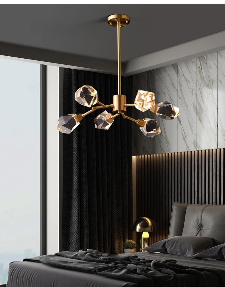 modern chandelier lighting for living room nordic aluminum chain round Chandeliers loft led indoor lighting home decoration