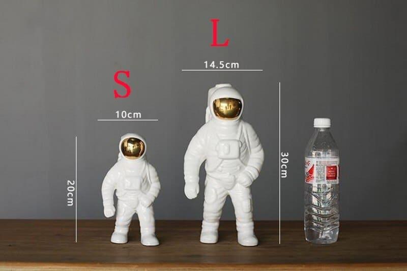 [MGT] Gold Space Man Sculpture Astronaut Fashion Vase Creative Modern Ceramic Cosmonaut Ornament Model Garden Statue Decorations